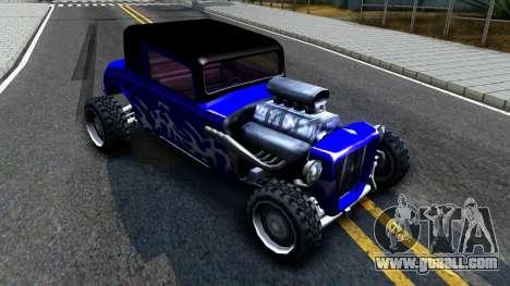 Duke Blue Hotknife Race Car for GTA San Andreas left view