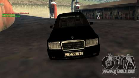 Mercedes-Benz W124 E500 Armenian for GTA San Andreas back view