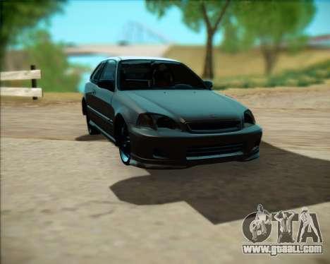 Honda Civic Hatchback for GTA San Andreas left view