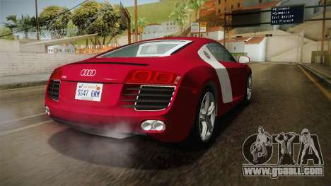 Audi R8 Coupe 4.2 FSI quattro US-Spec v1.0.0 YCH for GTA San Andreas back left view