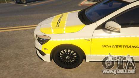 GTA 5 Deutscher Schwertransport Wagen rear right side view