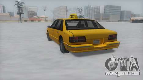 Taxi Winter IVF for GTA San Andreas left view