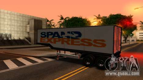 Box Trailer V2 for GTA San Andreas left view