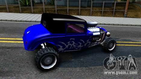Duke Blue Hotknife Race Car for GTA San Andreas back left view