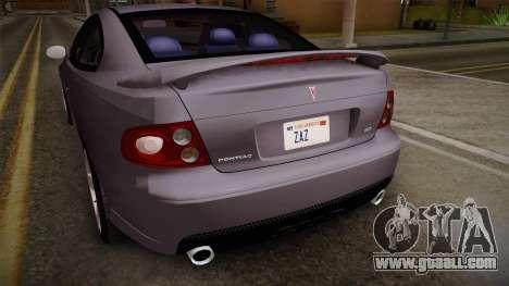 Pontiac GTO Hot Wheels NASCAR PJ for GTA San Andreas side view