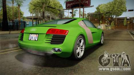 Audi R8 Coupe 4.2 FSI quattro EU-Spec 2008 for GTA San Andreas left view