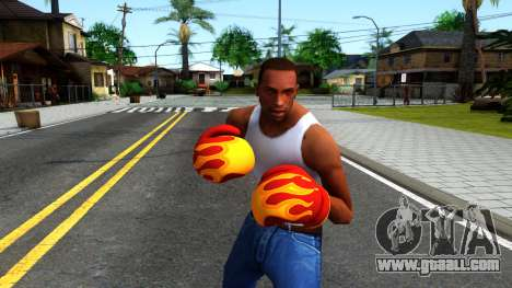 Red With Flames Boxing Gloves Team Fortress 2 for GTA San Andreas third screenshot