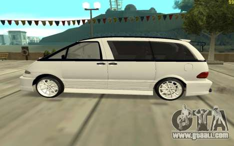 Toyota Estima for GTA San Andreas left view