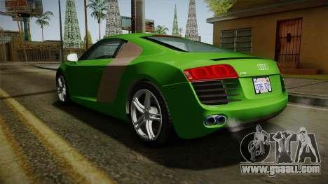 Audi R8 Coupe 4.2 FSI quattro EU-Spec 2008 for GTA San Andreas back left view