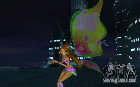 Flora Believix from Winx Club Rockstars for GTA San Andreas second screenshot