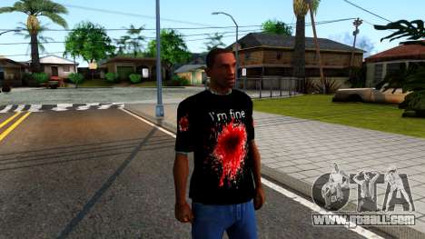 Black I am Fine T-Shirt for GTA San Andreas second screenshot