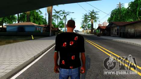 Black I am Fine T-Shirt for GTA San Andreas third screenshot