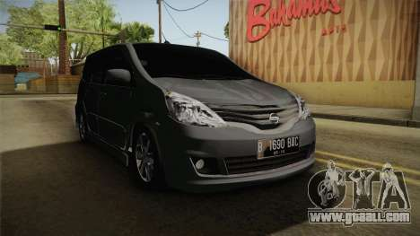 Nissan Grand Livina Highway Star for GTA San Andreas right view