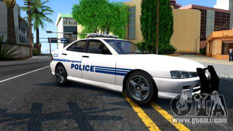1998 Dinka Chavos Montgomery Police Department for GTA San Andreas left view