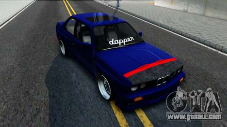 BMW E30 for GTA San Andreas back view