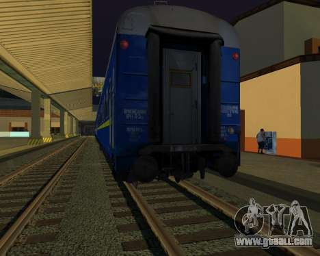 Compartment car Ukrainian Railways for GTA San Andreas inner view
