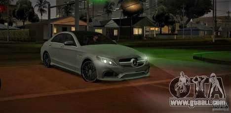 Mercedes-Benz C63 AMG W205 for GTA San Andreas