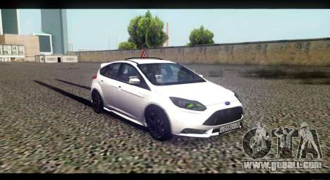 Ford Focus ST 2013 Training for GTA San Andreas right view