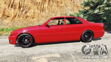 GTA 5 Toyota Chaser (JZX100) cambered [add-on] left side view