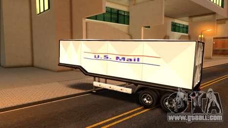 Box Trailer V2 for GTA San Andreas back left view