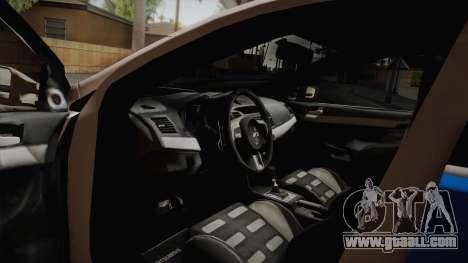 Mitsubishi Lancer Evo X Police for GTA San Andreas right view