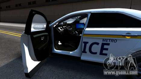 Ford Taurus Slicktop Metro Police 2013 for GTA San Andreas back view