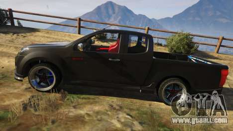 GTA 5 Isuzu D-Max X-Series 2015 left side view