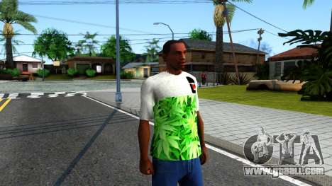 Design Weedleaves T-Shirt for GTA San Andreas