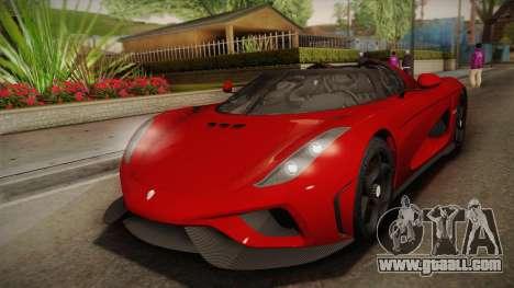 Koenigsegg Regera 2016 for GTA San Andreas