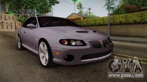 Pontiac GTO Hot Wheels NASCAR PJ for GTA San Andreas
