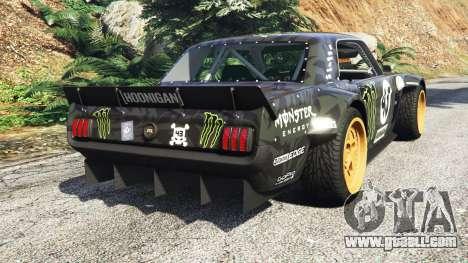 GTA 5 Ford Mustang 1965 Hoonicorn drift [add-on] rear left side view