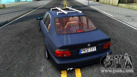 BMW e39 530d for GTA San Andreas back left view