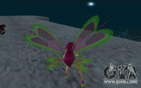 Fairy Roxy from Winx Club Rockstars for GTA San Andreas third screenshot