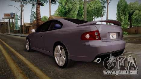 Pontiac GTO Hot Wheels NASCAR PJ for GTA San Andreas back left view