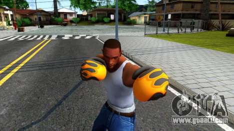 Black With Flames Boxing Gloves Team Fortress 2 for GTA San Andreas third screenshot