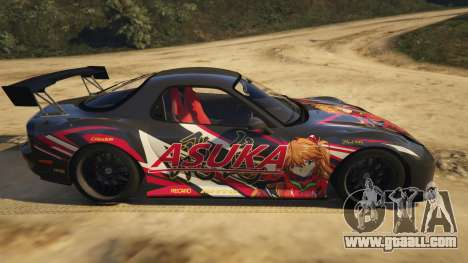 GTA 5 Mazda RX-7 Asuka left side view