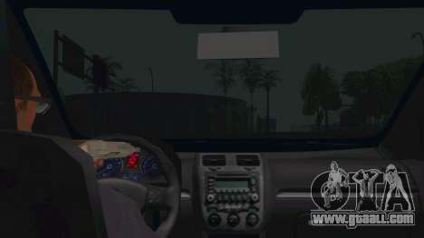 Volkswagen Golf MK for GTA San Andreas inner view