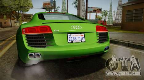 Audi R8 Coupe 4.2 FSI quattro EU-Spec 2008 for GTA San Andreas interior