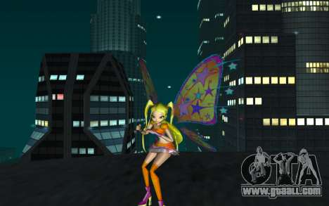 Stella Believix from Winx Club Rockstars for GTA San Andreas second screenshot