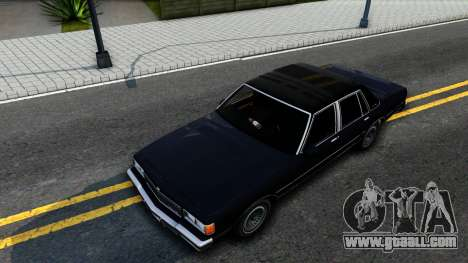 Chevrolet Caprice Brougham 1986 for GTA San Andreas back view