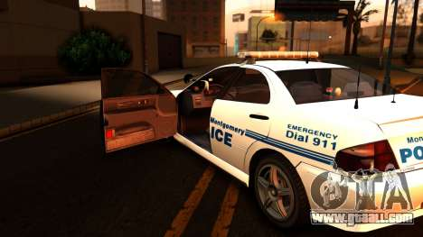 1998 Dinka Chavos Montgomery Police Department for GTA San Andreas back view