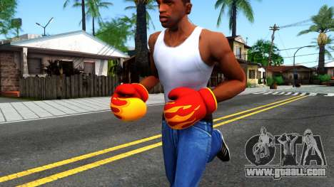 Red With Flames Boxing Gloves Team Fortress 2 for GTA San Andreas