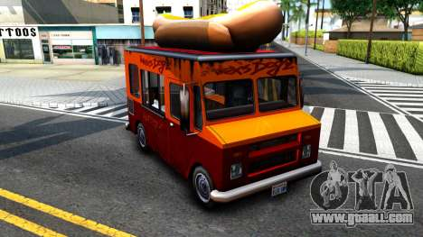 New HotDog Van for GTA San Andreas left view