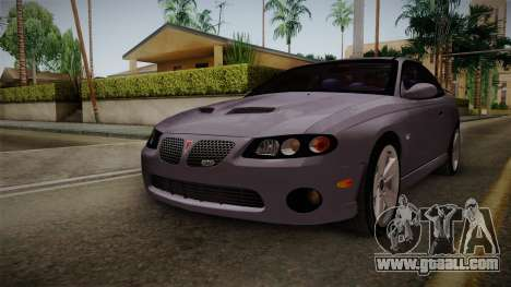 Pontiac GTO Hot Wheels NASCAR PJ for GTA San Andreas right view