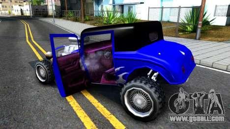 Duke Blue Hotknife Race Car for GTA San Andreas inner view