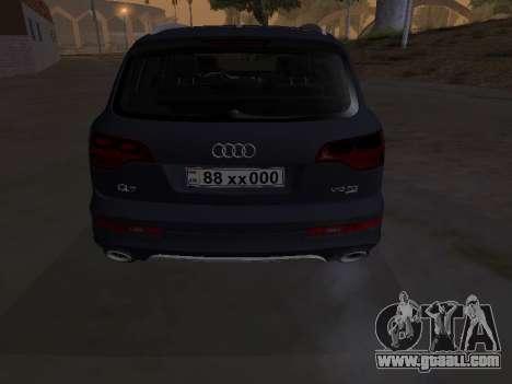 Audi Q7 Armenian for GTA San Andreas inner view