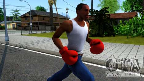 Red Boxing Gloves Team Fortress 2 for GTA San Andreas second screenshot