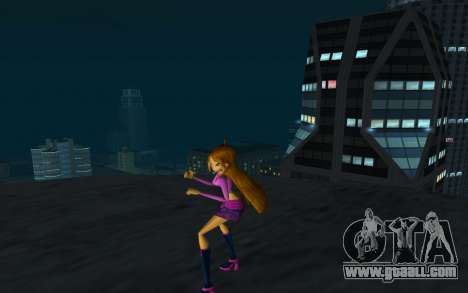 Flora Rock Outfit from Winx Club Rockstars for GTA San Andreas