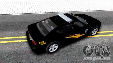 Bravado Buffalo State Patrol 2013 for GTA San Andreas back view