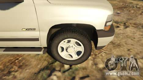 GTA 5 2000 Chevrolet Silverado 1500 back view
